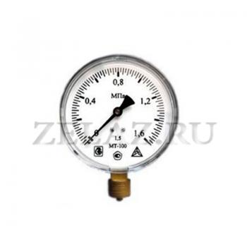 Манометр МТ-100 1,6 МПа (16 bar)- 100-1,5-G1/2 - фото