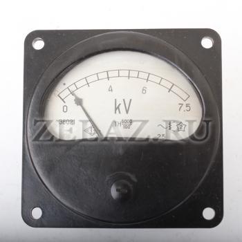 Вольтметр Э8021 кл.2,5 шкала 7500В фото 2