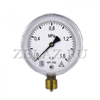Манометр МТ-100 1,6 МПа (16 bar)- 100-1,5-M20x1,5 - фото